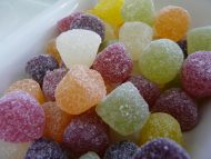 Not American, not hard but fantastic gummy fruity sweets