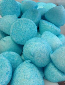 Blue paintballs